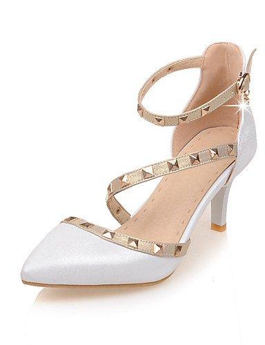 WSS 2016 chaussures à talon aiguille talons des femmes / bout pointu / talons bout ouvert mariage / fête&soirée / robe blanche / or 2in-2 3/4in-white