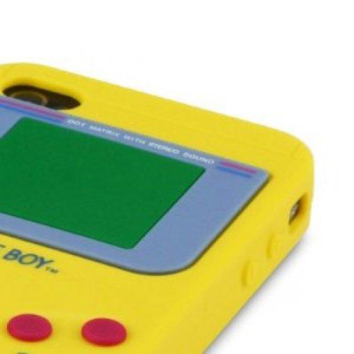 OBiDi - 3D Gameboy Coque en Silicone / Housse pour Apple iPhone 4S / Apple iPhone 4 - Blanc Jaune