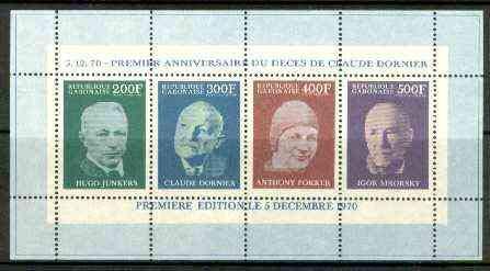 Gabon 1970 First Death Anniv of Claude Dornier (Aviation, gebraucht gebraucht kaufen  Wird an jeden Ort in Deutschland