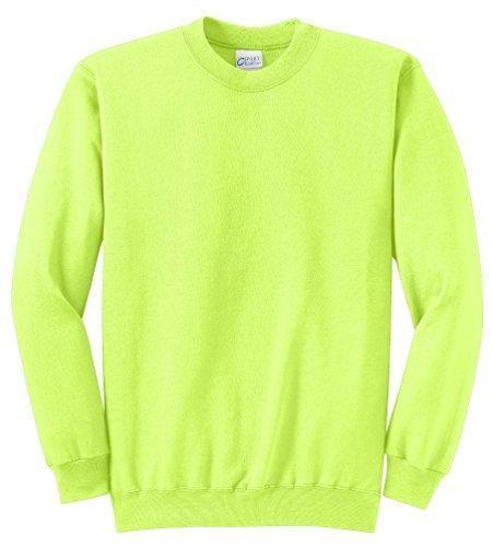 Port & Company 7.8-oz weitem Halsausschnitt, sweatshirt-l (weiß) Gr. Medium, Neon Gelb