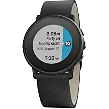 "Pebble Time Round - Smartwatch  (20mm, 1.25"", Bluetooth, Li-ion), color negro"