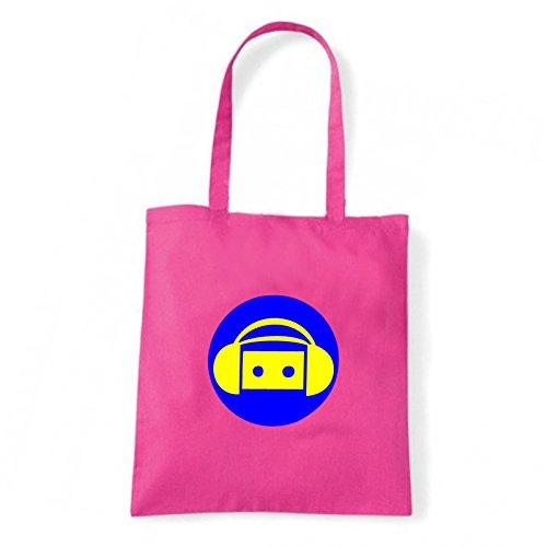 Art T-shirt, Borsa Shoulder music-party Fucsia