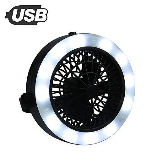 Ventilator LED Laterne, Tragbare Outdoor Camping LED Fan Licht Laterne hängende Zelt Lampe USB wiederaufladbare für Outdoor Wandern Camping Garten -