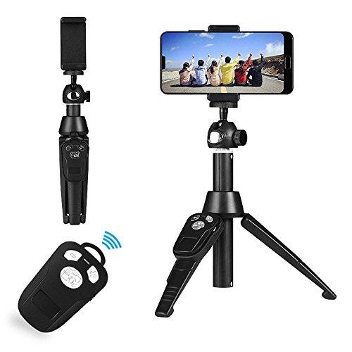 Bastone Selfie Professionale Teepao Bastone Selfie Treppiede Bluetooth Multifunzionale con Telecomando Fino a 100 cm per Selfie Universale per Iphone Android ed Altri Smartphone Rotazione di 360°