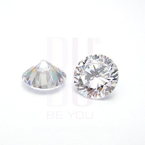 Be You Blanc Naturelle Afrique Oxyde de Zirconium AAA Qualité 1 mm Coupe Brillante Rond Caillou 50