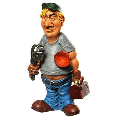 Tolle Zierfigur ~ Klempner ~ Deko Figur Sanitär Dekofigur Dekoration Karikatur