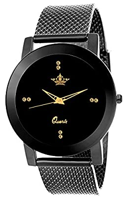 Swisso Quartz Movement Analogue Black Dial Women's Watch - Swisso-0133