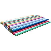 Paquete de 35 Barras de silicona de colores con purpurina. Barras termofusibles EXTRA LARGAS (18 cm). El recambio perfecto para pistolas de silicona caliente. Ideal para bricolaje y manualidades.