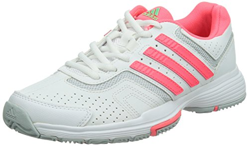 adidas Originals Barricade Court, Damen Tennisschuhe, Weiß (Ftwr White/Flash Red S15/Clear Onix), 40 EU (6.5 Damen UK)
