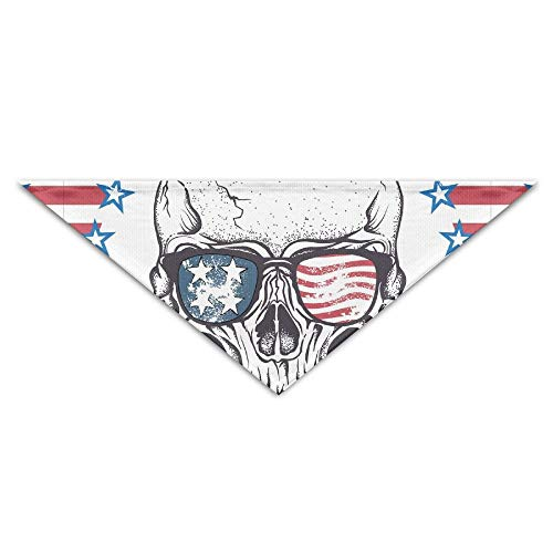dfegyfr USA Flag Pirate Skull Triangle Pet Scarf Dog Bandana Pet Collars for Dog Cat - Birthday