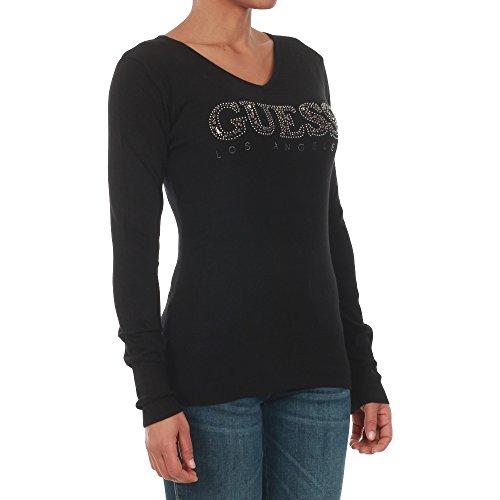 Maglia pullover donna Guess nera Black