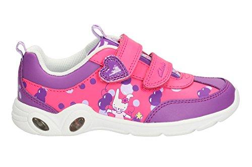 Mitzyleap Baskets bébé fille Rose Violet - violet
