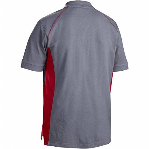 Blakläder Polo-Shirt, 1 Stück, Größe XXL, schwarz / grau, 332410509994XXL grau      /      rot