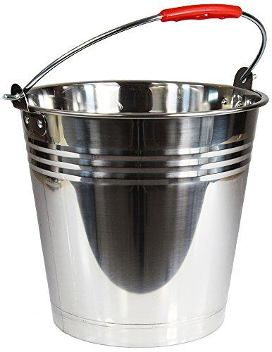 Wamat Edelstahleimer Eimer Edelstahl Kohleneimer Kücheneimer Lebensmittel 6 Größen (8 Liter) -