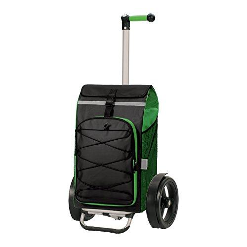 Andersen Shopper Tura mit kugelgelagertem Rad 29 cm und 72 Liter Tasche Fado grün mit integriertem Kühlfach und Regencape