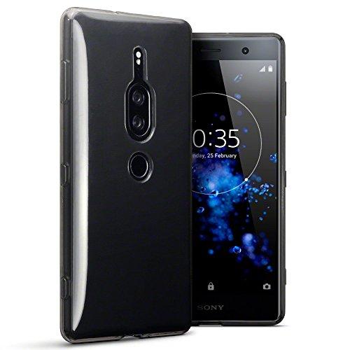 TERRAPIN, Kompatibel mit Sony Xperia XZ2 Premium Hülle, TPU Schutzhülle Tasche Case Cover - Transparent Schwarz