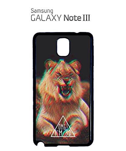 OMG I Am 3D Lion Triangle Mobile Phone Case Back Cover Coque Housse Etui Noir Blanc pour for Samsung Galaxy S4 Black Noir