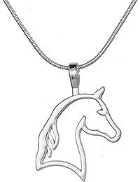 Collier avec pendentif Tête de cheval, tendance, style ethnique vintage, cadeaux pour filles, adolescentes, femmes, cow-girls