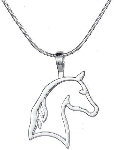 Fashion Vintage Ethnische Stil Pferd Kopf Anhänger Halskette für Cowgirl Teen Mädchen Frauen Geschenke