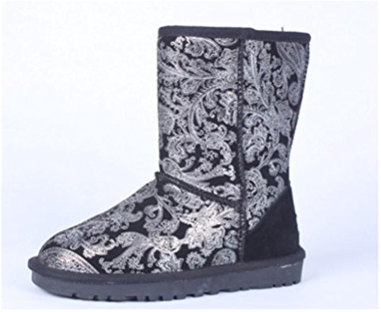 XUEXZIX Neutro nel Tubo Stivali Stivali Stivali da Neve Impermeabile Coloreee Speciale Femminile Stivali Mantenere Caldo Piatto... | Forma elegante  | Sig/Sig Ra Scarpa  6aa5b7