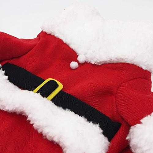 Hemore Weihnachtsmann Pet Bequeme Kleidung Kostüm Baumwollmantel Hund Sehr praktisch Feiertage und Geburtstage Mittelstück Ornament Saisonale Deko/Weihnachten