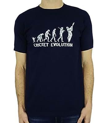 Cricket Evolution - Funny Cricket Gift Mens T-Shirt Navy S