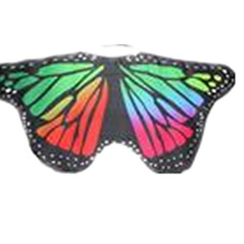 TIFIY Halloween Mädchen Schmetterling Schal Cosplay Pixie Vertuschen -