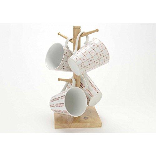 Amadeus - Coffret rack 4 mugs marsala Amadeus
