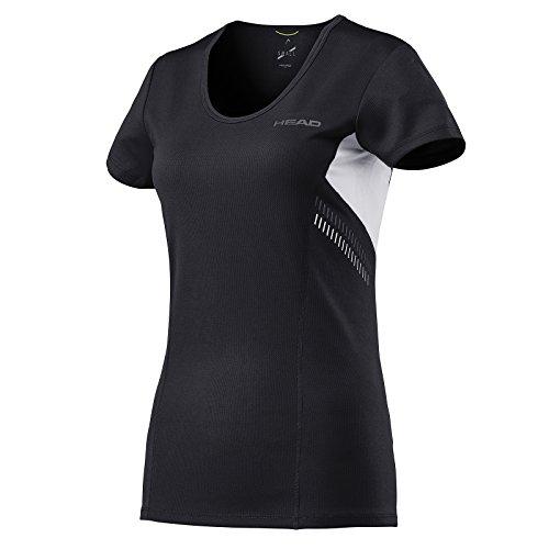 HEAD Damen Club Technical Shirt Oberteil, Schwarz, M