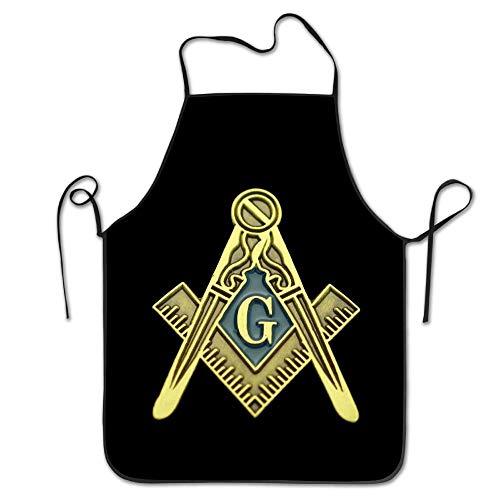 Symbolen Kostüm 90er Jahre - HTETRERW Novelty Masonic Symbol Unisex Kitchen Chef Apron - Chef Apron For Cooking,Baking,Crafting,Gardening And BBQ