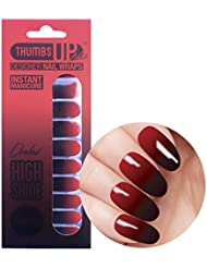 NEW ThumbsUp ongles–Dark Kiss pour ombre Nail Wraps 20/Pack