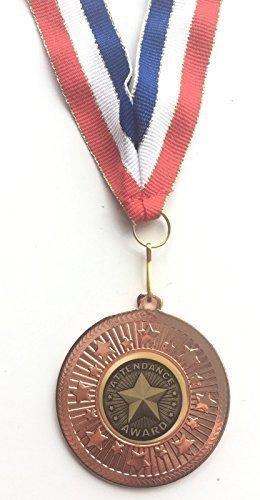 emblems-gifts Teilnahme Auszeichnung bronzefarben 50 mm Medaille & Band