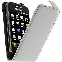 Mocca Design ERSA02 Etui à rabat en cuir pour Samsung Galaxy Ace S5830 Blanc