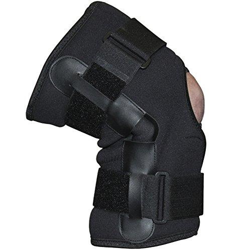 C.P. Sports Neopren Kniebandage mit Gelenk Bandagen, Schwarz, One size