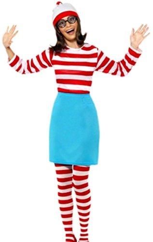 Wally Einfach Wo Ist Kostüm - erdbeerloft - Damen Wo ist Walter? Wanda Wally-Kostüm, Kostümset, Karneval, 38, Mehrfarbig