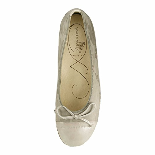 Waldläufer 328501-206-001 Hamiki donna Ballerina larghezza H per solette sciolti Grigio chiaro