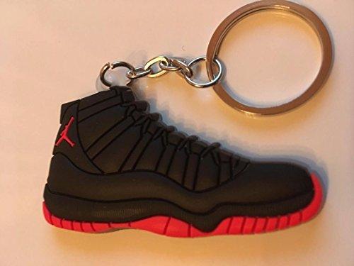 Preisvergleich Produktbild Air Jordan XI Sneaker Schlüsselanhänger Bred Keychain 11 NBA Schwarz