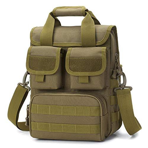 Outdoor Schultertasche Multifunktions Outdoor Tote Pendler Tactical Camouflage Crossbody Bag Tragbare Wasserdichte Tasche Clutch Handtasche Geldbörse Geldbeutel Schlüssel Tasche Halter, braun -