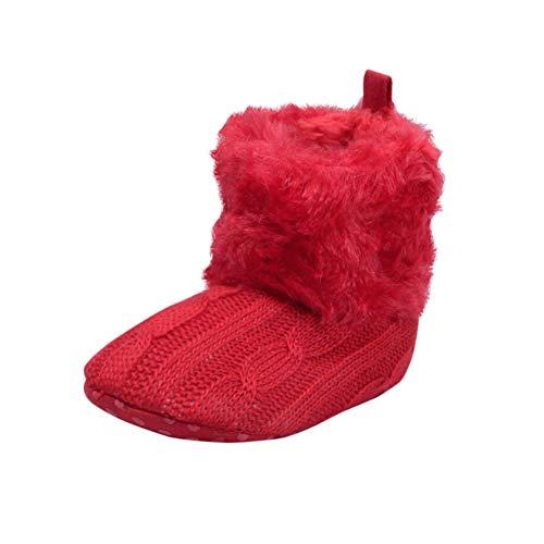 EFINNY Baby Kleinkind Schuhe Baumwolle Weiche Strick Krippe Booties Jungen Mädchen Winter Warme Schnee Stiefel für 0-18 Monate Bunt (Stiefel Winter Furry)