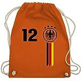 Fußball-Weltmeisterschaft 2018-12. Mann Deutschland WM - Unisize - Orange - WM110 - Turnbeutel & Gym Bag