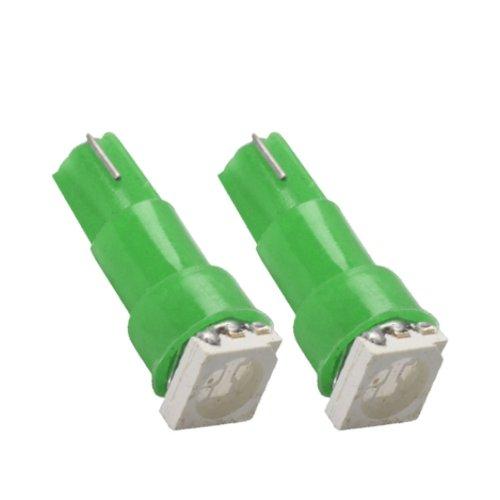 T5SG - SMD LED Ampoule Lampe voiture auto VERT T5 W2,3W T5 12V tachymètre instrument d'éclairage
