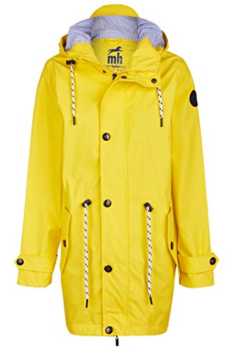 Friesennerz | Maritime Jacke | Regenjacke | veredelt | Das Original aus Ostfriesland in 2 Modell Norderney (M, Hellgelb)