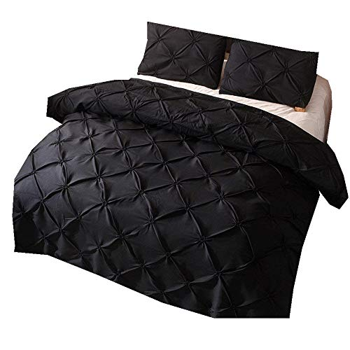 Sticker superb Baby Kleinkind Diamond Pintuck Bettbezug Set 150x200cm 2 Teilig Bettbezug Set Anti-Falten (Schwarz, 150x200cm) (Afrikanische Tröster)