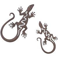Holz Figur Wandfigur Gecko Wandgecko Bali schwarz 100cm