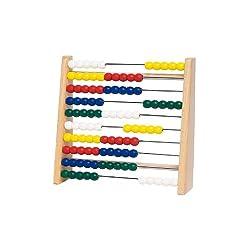 Goki TT610 Toys Pure Rechenrahmen, 17 x 5 x 16,5 cm, Holz, 100 Perlen, mehrfarbig (1 Stück)