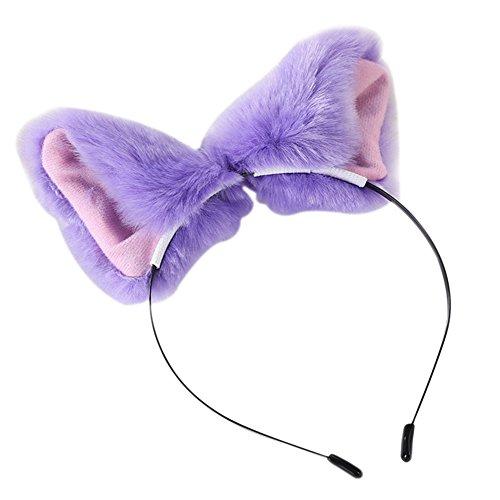 Demarkt Haarbänder Katze Ohr Stirnband Haarband Clips Frauen Mädchen Katze Ohren Headbands Haar Zubehör