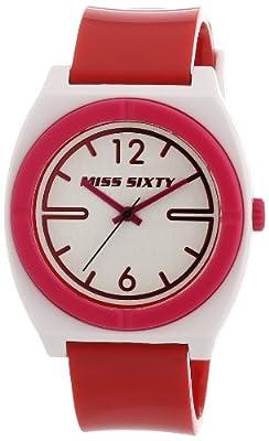 Miss Sixty STU011 de mujer de cuarzo con correa de plástico roja