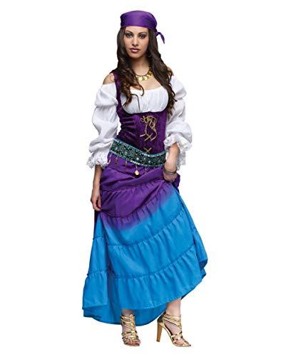 Halloween Zigeunerin Kostüm - Horror-Shop Mondschein Zigeunerin Kostüm Deluxe für Halloween & Karneval XL