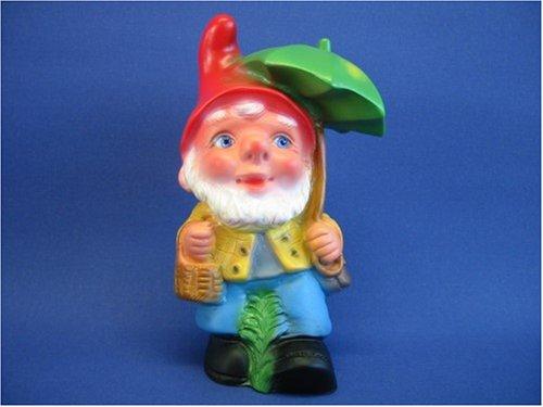 Gartenfigur Zwerg mit Schirm H 20 cm