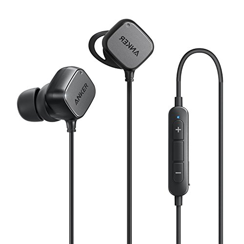 Cuffie Wireless Anker SoundBuds Tag Auricolari In-Ear Bluetooth, Cuffie con Funzione Magnetica Smart con Tecnologia aptX, Soppressione del Rumore CVC 6.0. Durata Riproduzione 6 Ore - Bluetooth 4.1 con Microfono Nero